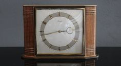 KIENZLE HEINRICH MOELLER ART DECO DESK CLOCK ( junghans max bill shelf era #ArtDeco