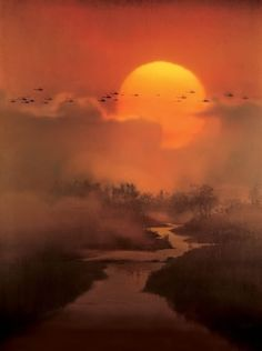 Still from Francis Ford Coppola's 1979 film Apocalypse Now Beautiful World, Beautiful Places, Beautiful Pictures, All Nature, Amazing Nature, Apocalypse, Beautiful Sunrise, Beautiful Moon, Chiaroscuro