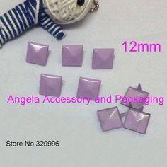 Free Shipping 1000pcs 12mm Colorful Pyramid Studs Rivets Spikes Punk Bag Belt Leathercraft Bracelet Clothes DIY Accessory