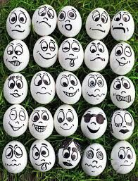 White Eggs And Many Funny Faces Stock Photo, Picture And Royalty Free Image. Image funny White eggs and many funny faces Rock Painting Patterns, Rock Painting Ideas Easy, Rock Painting Designs, Pebble Painting, Pebble Art, Stone Painting, Eye Painting, Egg Crafts, Easter Crafts