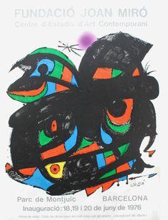 """5 x Joan Miró - Omnium culturele/Picazo 90/La Taupe Hilaire/samenstelling/Anys Cerf  1 - """"Ómnium culturele"""" 1974Originele litho bewerkt door La Poligrafa. BarcelonaOndertekend in plaat in editie beperkt tot 1000 exemplarenAfmetingen 73 x 54 cmUitstekende conditieWaarnaar wordt verwezen in de officiële catalogi:-Patrick Cramer Joan Miró - lithograaf V Paris 1992 nr. 958-Corredor Matheos Miró van affiches Barcelona 1980 Nr. 81 (81 picazo)-Bra Böker / Wiken Joan Miró - posters - affischer Malmö…"""