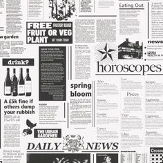 as creation 8560 12 dekora natur 6 newspaper wallpaperblack and white