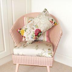 Beautiful vintage cushion, handmade by MiaFleur in England.