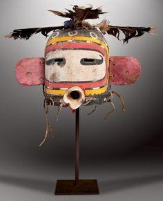 KWASA'YTAQA / KOROWISTA - Masque Heaume KOROSTO (Colton 111). HOPI, Arizona. Ca. 1890-1900