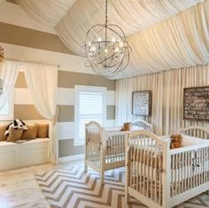 A baby's nursery <3 glam and neutral