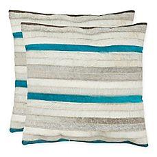 image of Safavieh Quinn Square Throw Pillows (Set of 2)