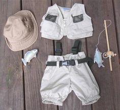 BUILD A BEAR WORKSHOP BABW Clothes FISHING SET LOT Hat Vest Pants Rod OUTFIT