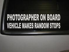 If I get myself a nice camera I'll need this, since while I'm driving I am constantly thinking how random things would make great photos.