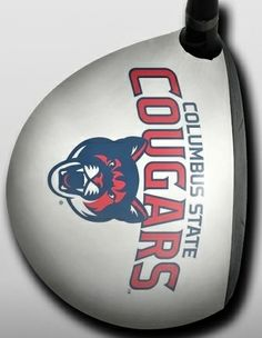 Personalized golf driver decal by Big Wigz Skins - CSU White W/Cougar Head Center.  Buy it @ ReadyGolf.com