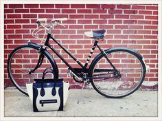Claudias bike and bag