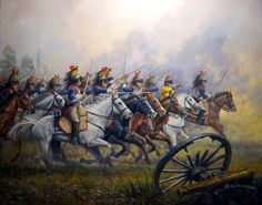 Jose Ferre Clauzel. Attack of the 5th Cavalry Regiment French cuirassiers.