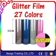 New One Roll 25M ...  http://omnidragondevelopment.com/products/new-one-roll-25m-length-glitter-heat-transfer-vinyl-film-heat-press-cut-by-cutting-plotter-diy-t-shirt-27-colors-for-choosing?utm_campaign=social_autopilot&utm_source=pin&utm_medium=pin