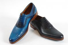 da2d729083f1 Granville by John Fluevog (Mens)  It is all about the colour. Granville is  available in a vibrant blue or dark pewter. All leather upper with leather  ...