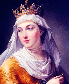 Jadwiga of Poland (1373/4 – 1399) was monarch of Poland from 1384 to her death. Her official title was 'king' rather than 'queen', reflecting that she was a sovereign in her own right and not merely a royal consort. She was a member of the Capetian House of Anjou, the daughter of King Louis I of Hungary and Elizabeth of Bosnia.