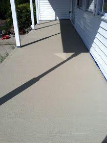 Pine Tree Home: Resurfacing Concrete: Porch Makeover