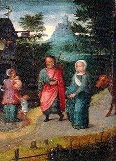 "Adriaen Isenbrant (Flemish, 1490-1551), ""Joseph and Mary in Bethlehem,"" no date; Indianapolis Museum of Art, Courtesy of The Clowes Fund, C10023"