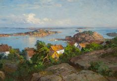 Even Ulving Skjærhalden Hvaler Danish Culture, Social Realism, Beautiful Norway, Scandinavian Art, The Masterpiece, Traditional Paintings, Painting Prints, Cottage, Spaces