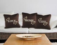 Deko-Kissen Home, Love, Life