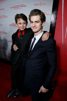 Max Charles and Andrew Garfield
