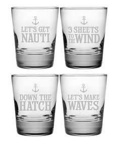 Another great find on #zulily! Anchor Motif Double Old-Fashioned Glass - Set of Four #zulilyfinds