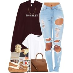 90's Baby - No. 603 by dessboo on Polyvore featuring H&M, UGG Australia, MICHAEL Michael Kors, Michael Kors, Givenchy, Sterling Essentials, Case-Mate and ZeroUV