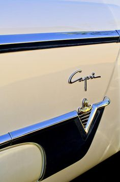 1954 Lincoln Capri Convertible Emblem Photograph by Jill Reger - 1954 Lincoln Capri Convertible Emblem Fine Art Prints and Posters for Sale
