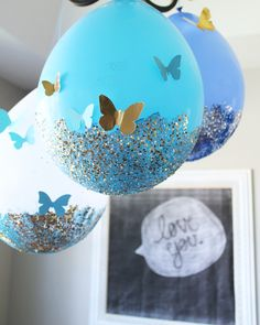 ideas baby shower ides princess cinderella party for 2019 Butterfly Party, Butterfly Birthday, Fairy Birthday, Birthday Crafts, 3rd Birthday Parties, Party Crafts, Birthday Ideas For Her, One Year Birthday, Glitter Ballons