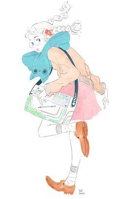 Yuki.Kawatsu Illustration — お昼からも頑張りまっしょい_φ(・w・☆