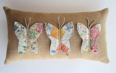cute quilted butterfly pillow