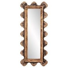 Rectangle Blaine Decorative Wall Mirror Black/Gold Shimmer - Howard Elliott