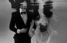Imagem via We Heart It https://weheartit.com/entry/158968048 #black #blackandwhite #bowtie #boy #couple #flowers #forever #girl #guy #love #married #marry #me #photography #pool #Relationship #suit #two #us #water #wedding #weddingdress #you
