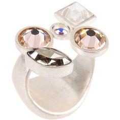 Maison Margiela 11 Ring ($368) ❤ liked on Polyvore featuring jewelry, rings, white, white ring, white jewelry and maison margiela