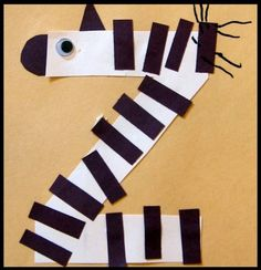 letter of the week preschool crafts: z is for zebra - entire alphabet, also letter of the week snacks from a-o Preschool Letter Crafts, Preschool Projects, Alphabet Crafts, Daycare Crafts, Alphabet Activities, Preschool Activities, Alphabet Letters, Preschool Zoo Theme, Letter Art