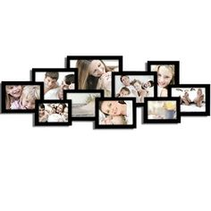 Black Collage Puzzle Picture Frame 10 Openings, Various Sizes $36.99