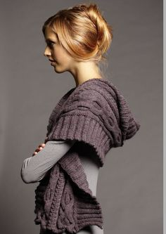 Pattern available as a digital download. A richly textured cable wrap with rib edges, which may also be work as a generous scarf. Suitable for an a...