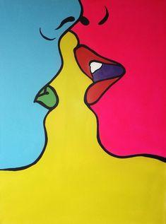 Randome Medium Original Modern Painting Acrylic on Canvas Blue and red Painting Acrylic acrylic painting Blue Canvas Medium Modern Original Randome red Simple Canvas Paintings, Easy Canvas Art, Small Canvas Art, Mini Canvas Art, Cute Paintings, Acrylic Painting Canvas, Blue Canvas, Spray Painting, 3 Canvas Painting Ideas