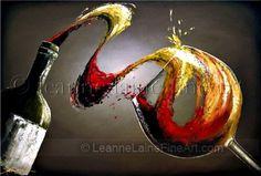 """""""Savory Wave"""" by © Leanne Laine Fine Art https://www.facebook.com/leannelainefineart #wine #wineart #winepainting #fineart #art #paintings"""