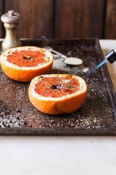 grapefruit brûlée with black pepper | DrizzleandDip.com