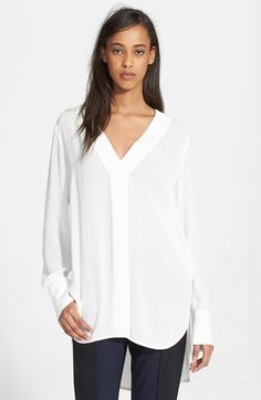 Vince Long Sleeve V-Neck Blouse available at #Nordstrom