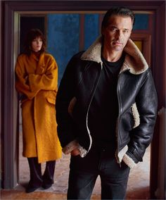 Mango Man enlists actor Olivier Martinez and model Jegor Venned as the stars of its fall-winter 2017 campaign. Mario Sorrenti photographs the pair for the… Freja Beha Erichsen, Mario Sorrenti, Aviator Jackets, Sheepskin Coat, Fashion Couple, Mango Fashion, Fashion Brand, Cool Outfits, Bomber Jacket