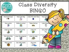 A fun beginning of the year activity!  Students love playing this class diversity bingo game to get to know one another!