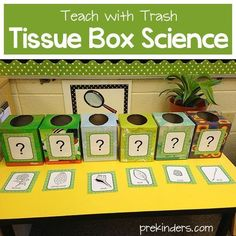 Allowing students to connect to their senses really helps them build concrete understandings in science. I like that these science manipulatives are extremely interactive. Preschool Classroom, Classroom Activities, In Kindergarten, Preschool Activities, Preschool Science Centers, Physics Classroom, Science Lessons, Teaching Science, Science Projects