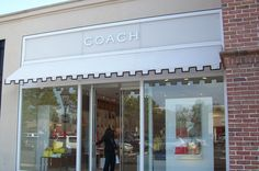 Coach store at the Shops of Saddlecreek in Germantown, TN outside of Memphis parasolawnings.com