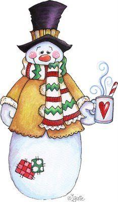 dibujo muñeco de nieve para imprimir - Buscar con Google