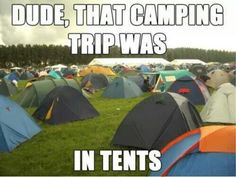 How would you get so many tents? ;)