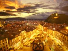 Graz - the lovely place where I am originally Places To See, Places Ive Been, Graz Austria, Central Europe, Capital City, Alps, Paris Skyline, Beautiful Things, Cities