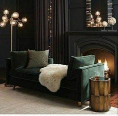 Dark green and contrast with light floor