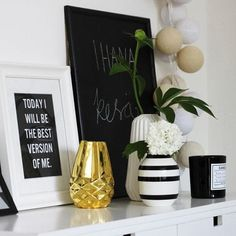 Hot #typography in #monochrome home office