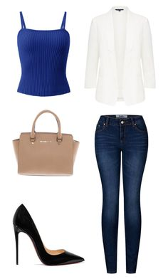 """Casual Work Outfit"" by mitchieanne21 on Polyvore featuring 2LUV, Michael Kors and Christian Louboutin"