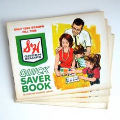 S & H Green Stamp Books.  ONLY 1200 stamps fill this book?  Lots of licking and glue ingestion.